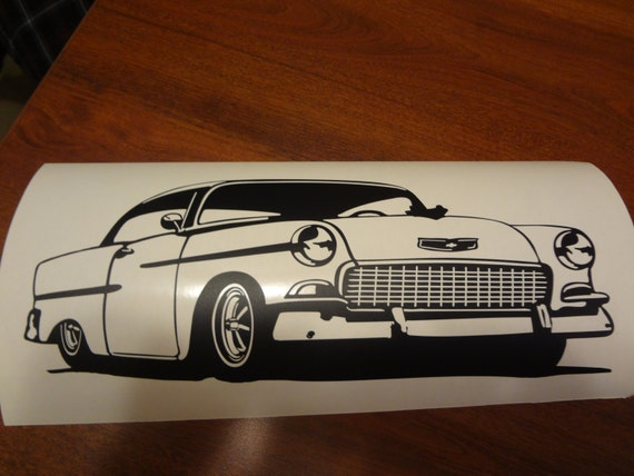1955 Chevy Garage Wall Decal Vintage Car Home Decor Boys Room