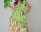 Tiana Dress everyday princess PDF Pattern instant download 6mnth-8years princess and the frog