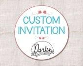 5x7 Custom Printable Invitation
