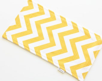 SALE || Burp Cloth || Chevron Yellow || Fleece Backing