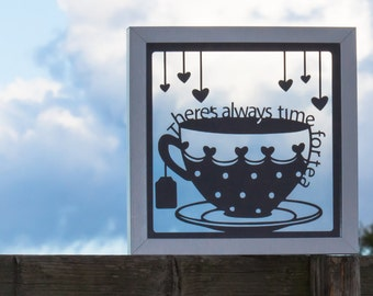 Time for Tea Papercut with free UK delivery