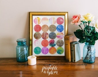 INSTANT DOWNLOAD Art Print, Printable art wall decor, watercolor glitter poster abstract art - graphic digital Printable Wisdom