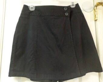 Urban Black Front Flap Shorts