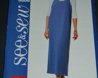 See and Sew 6806 Misses-Misses petite Jumper  Sewing Pattern UNCUT Sizes 12 14 16