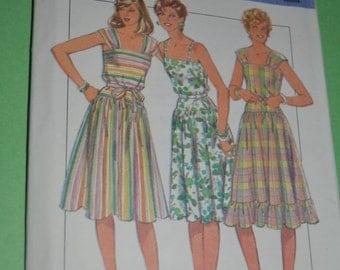 Vintage 80s Style 3892  Misses  Dress  Sewing Pattern - UNCUT - Size 10 12 14