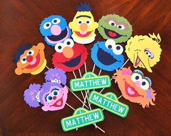 Sesame Street Birthday Party Decorations Sesame Street Centerpiece