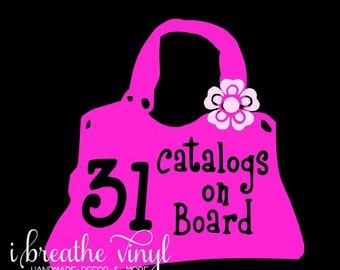 31 Catalogs on Board car decal