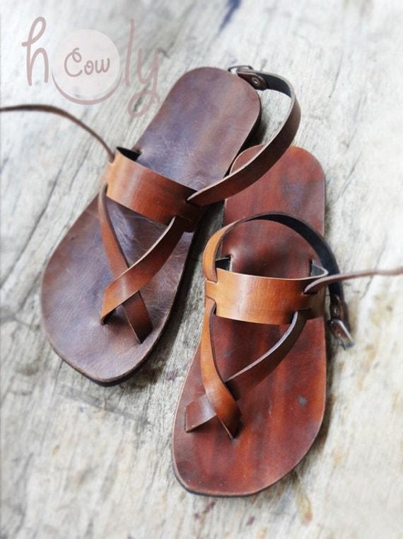 Vintage 70s Huaraches Sandals Shoes Hippie Boho Open Toe Sling |Hippie Mens Leather Sandals
