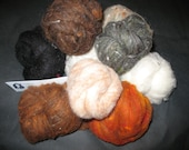 Needle Felt Wool Roving Felting Fiber 10 Natural Shades 3 oz total by Make Life Cozy