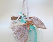 Beach Wedding Flower Girl Baskest- Sea Star Wedding Basket-Beach Wedding Accessory- Mermaids Wedding Basket-Sea Shell Wedding Basket