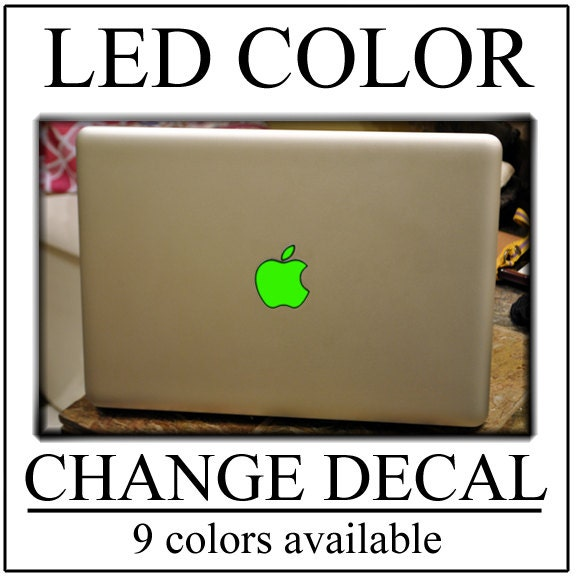 GLOWING Apple Macbook Decal Sticker Color Change Your LED Logo - Custom vinyl decals macbook
