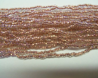 Size 11/0 Metallic COPPER LINED Crystal AB-Iris-Rainbow Preciosa Czech Glass Seed Beads-2.1mm Round Rocailles-Hank/Strands/Strings-Supplies