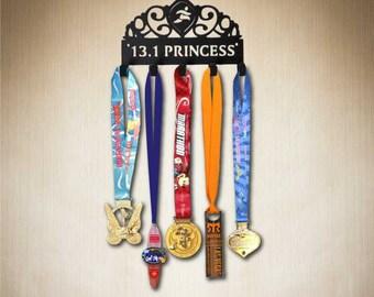 Disney Princess - 13.1 Princess Tiara , Running Medal Holder, Medal Hanger, Medal Display, Medal Rack. Great for your runDisney medals