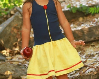 Snow White inspired  play dress a available in 4t, 5t or  6/6X only