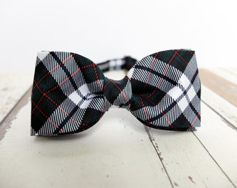 Plaid Bow Tie For Men tartan bow tie black bow ties olive green bowtie gift for teacher gift for father wedding mens bow tie groomsman