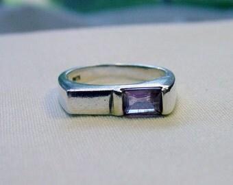 Sale! Vintage Sterling Amethyst Ring - Sz. 6