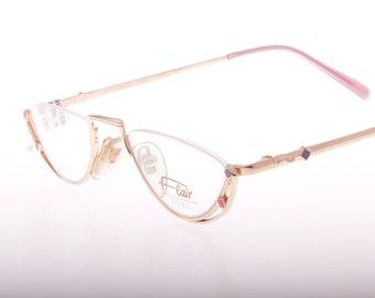 Vintage luxury titanium reading eyeglasses titanium frame by Flair NOS 1980s