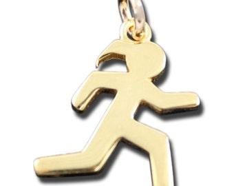 Runner Girl Charm Vermiel Gold Plated