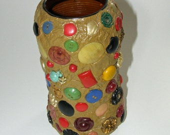 Very Cool 1960's Folk Art Memory Jug