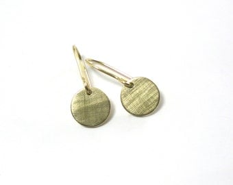 Gold Earrings plate 12 333 mm gold