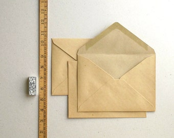 "50 A7 (5 1/4""x7 1/4"") Vintage Style Brown Kraft Envelopes for 5x7 cards and photos - Triangle Flaps"
