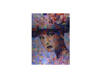 art print modern art l painting beautiful woman Upclose Lady giclee prints artbyevelynmarie prnt made from original lady woman hat