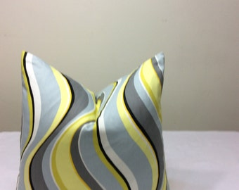 Gray Swirl Pillow Cover, Decorative Throw Pillow Cover