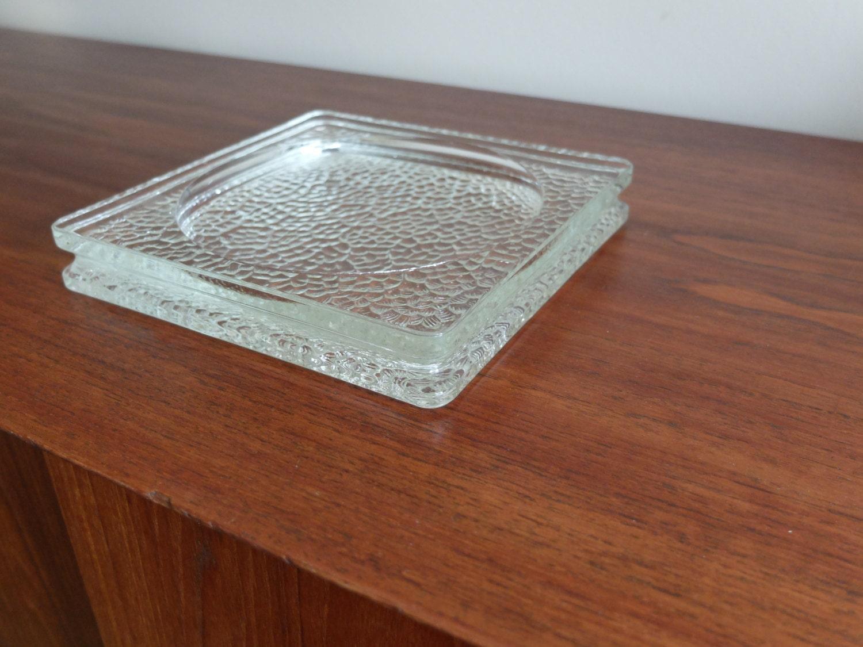 vide poche cendrier nevada en verre art deco vintage le. Black Bedroom Furniture Sets. Home Design Ideas