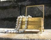 MAKE OFFER! Vintage Accessories Ornate Filigree Footed Jewelry Box-Vanity Jewel Box-Trinket Box