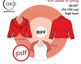 pdf Carmine Knit Shrug Cake Patterns RiFF Nº3334