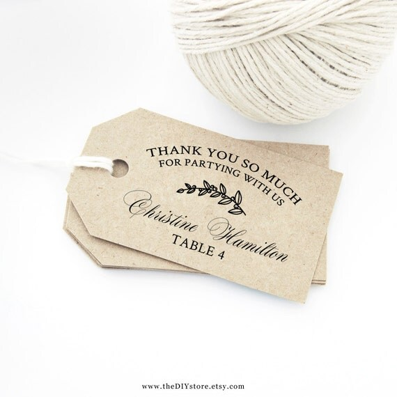 Wedding Thank You Gift Tags Template : ... Size, Wedding Thank You Tags & Escort Card Tags Wedding Gift Tag