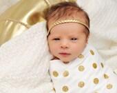 Braided Headband - Gold Boho Headband - Gold Braided Headband