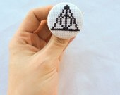 Harry Potter Deathly Hallows Pinback Button, Potter Nerd Gift