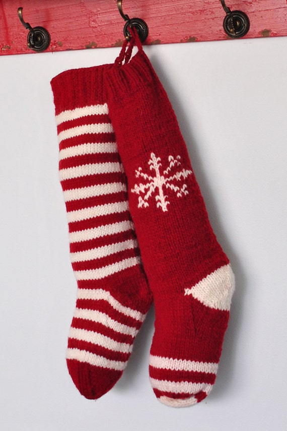 Knit Christmas Stocking Pattern With Name : Unavailable Listing on Etsy