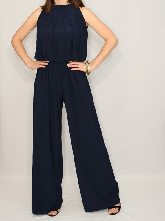 Cool Lanti Is A Polish Fashion Brand, Proposition For Unusual Women For Which The Wardobe Is Like Reflection Of Their Lifestyle Knit Is A Synonym Of The Convenience And Supreme Comfort Elegant Jumpsuit In Navy Blue Fantastically Longer Silhouette
