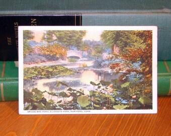Vintage Postcard, Elizabeth Park, Hartford Connecticut 1910s Paper Ephemera
