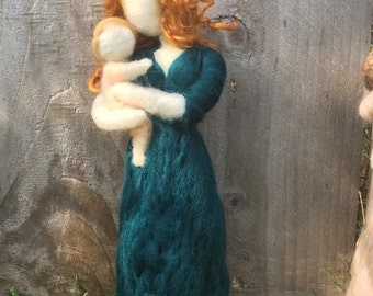 Needle Felt Mother Holding Baby Made to Order