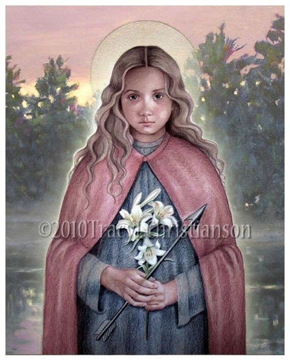 St Philomena Catholic Patron Saint 8x10 Art Print Free