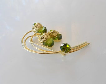 Vintage rhinestone brooch Juliana Delizza & Elster for Sarah Coventry 1960s GP Free USA Shipping