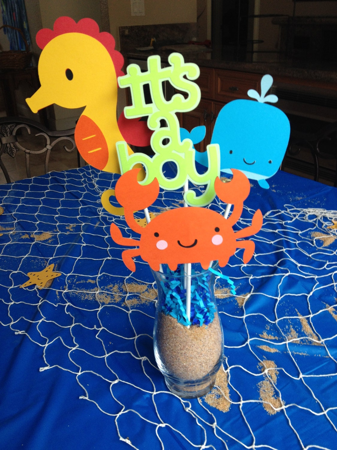 under the sea baby shower centerpieces by here4theparty on etsy
