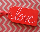Love - 1 Large Chalkboard Gift Tag