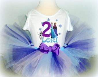 Frozen Birthday Tutu - Snowflake Shimmer