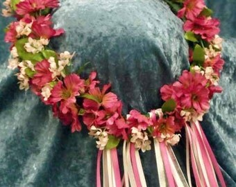 Flower Circlet in Shades of Pink