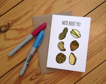 Nuts About You Illustrated Greetings Card