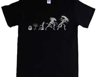 ALIEN types S - 5XL T-shirt movie giger alien prometheus aliens movie face hugger queen egg evolution