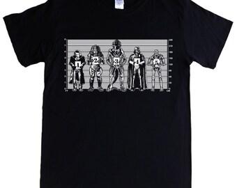 MOVIE VILLAINS - S - 5XL T-shirt - alien, predator, terminator, the joker, vadar, Police Line Up