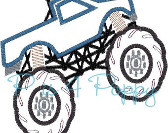 Instant download Pick-up Monster truck applique design