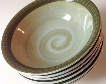 Casual Ceram Vista Cereal Soup Bowls, 1970s Japanese Stoneware Bowls (6)