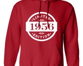 1956 Limited Edition 2016 Birthday Hoodie 60th Birthday Gift Mens Womens Ladies Hoodie Hooded Sweatshirt Sweater Unisex Modern Custom B-379