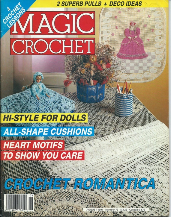Magic Crochet Magazine : Magic Crochet Magazine Back Issue August 1991 Number 73 Crochet ...